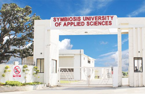 Symbiosis Indore Main Gate View