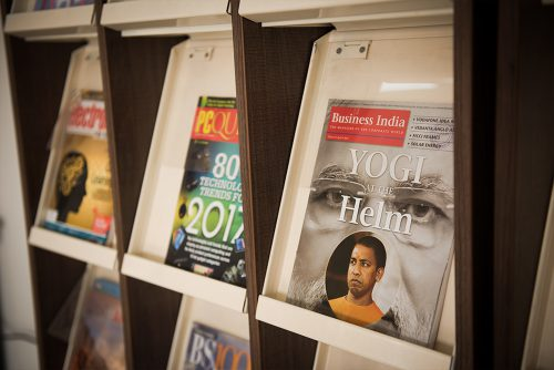 Symbiosis Indore Library Magazine Rack