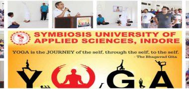 Symbiosis University celebrates International Day of Yoga