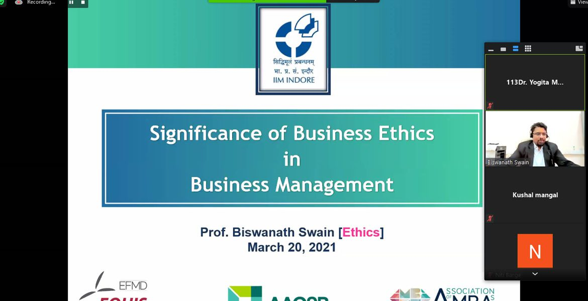 Expert Session on Business Ethics